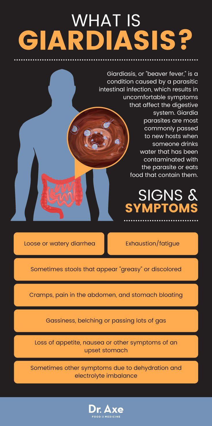 giardia infection symptoms in adults