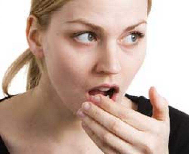 az aceton szaga a nők szájából