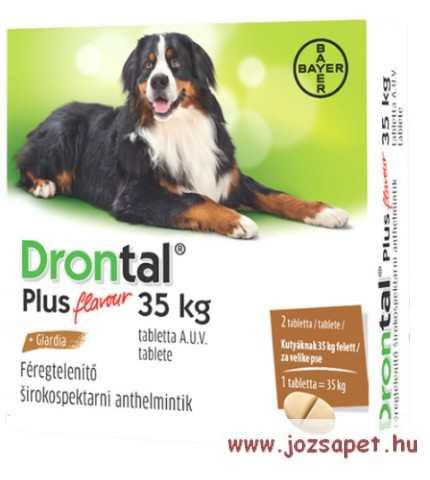Drontal Plus XL féregtelenítő tabletta kutyának, Drontal féregtelenito